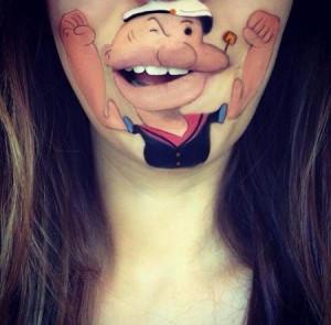 嘴巴上的创意艺术