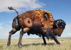 创意的金属动物雕塑