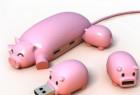"""""""一窝小猪""""优盘+集线器设计"""