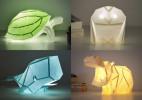 创意DIY折纸动物灯
