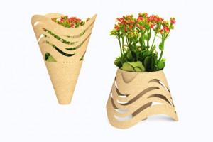 简易环保鲜花盆