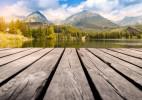 超赞的湖边木桥意境美图