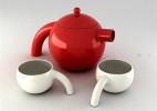 一款仿生茶具和女孩洗澡创意茶具产品设计