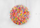 3000块软糖打造的创意风铃糖果吊灯个性设计作品欣赏