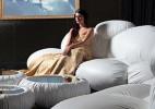 带有日式风味的云朵沙发坐椅 柔软舒适的梦幻沙发系列家具