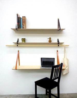 自由摆放的超简洁收放置物隔板创意设计