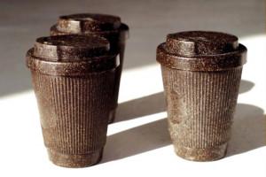 咖啡渣制作的咖啡杯