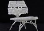 模仿放射虫结构的3D打印座椅模型