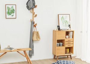 如何辨别实木高档实木落地挂衣架、衣帽架