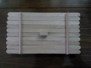 雪糕棒手工DIY 收纳盒的做法图解教程