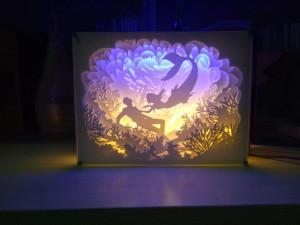 光影纸雕灯雕刻步骤教程