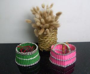牙签和毛线手工编织精美首饰盒做法图解教程