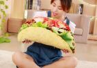 创意仿真汉堡、面包美食抱枕