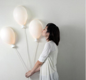 可爱的气球壁灯