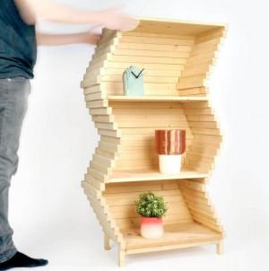 可以不断变化形状的书架