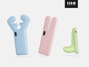 三种动物主题的手机壳