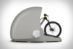 防水防盗的自行车舱