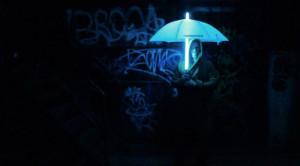 整体发光的雨伞