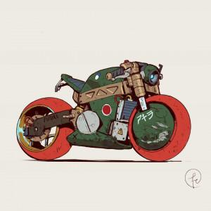 超酷的汽车和摩托车绘画