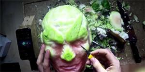 用西瓜雕刻出逆天的角色造型