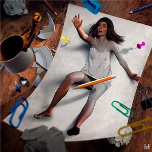 他将美女画活了,超现实主义3D绘画