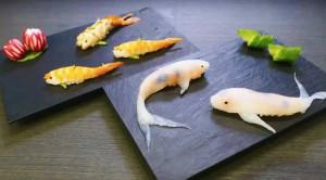 活灵活现的锦鲤寿司