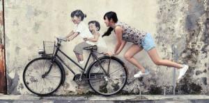 快看!一幅墙画引发的互动街头艺术