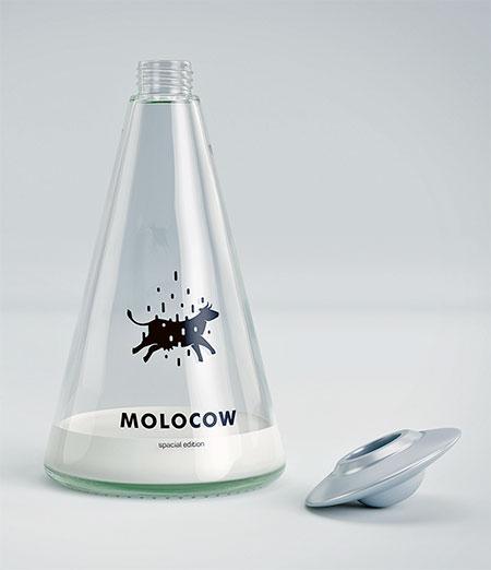 Molocow的创意牛奶包装设计