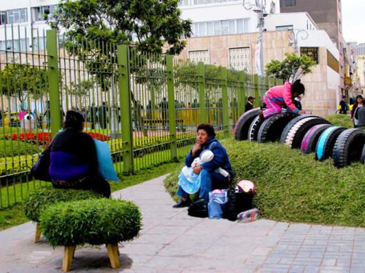 绿色轮胎种植的创意改造 生活简约而不简单