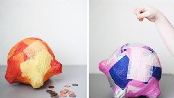 酸奶瓶废物利用 用酸奶瓶手工制作存钱罐教程