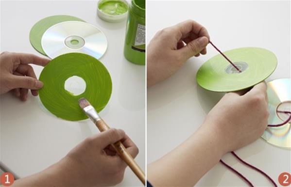 手工制作 旧cd,旧光盘废物利用大全 各种实用家饰的做法  不浪费,不
