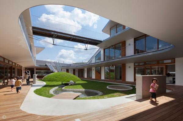 日本幼儿园的创意 把幼儿园建成游乐场
