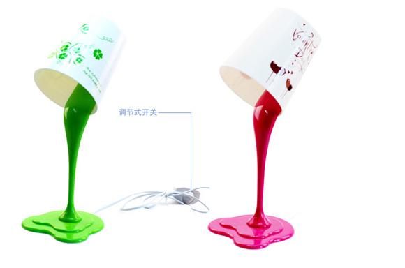 油漆桶样式的台灯