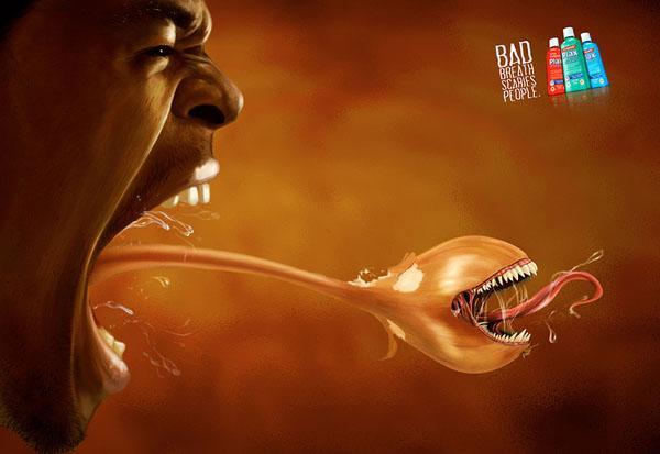 高露洁漱口水广告创意