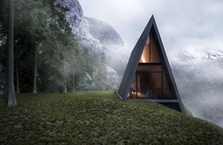 悬崖边上的住宅