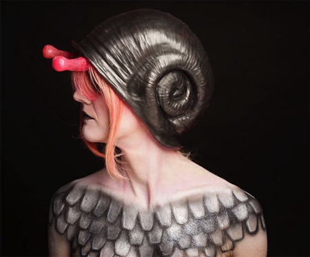 创意蜗牛头盔