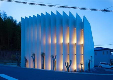 日本扇形百叶窗创意建筑