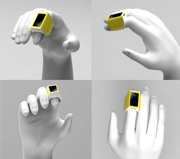 六麦 3D体感指环鼠标