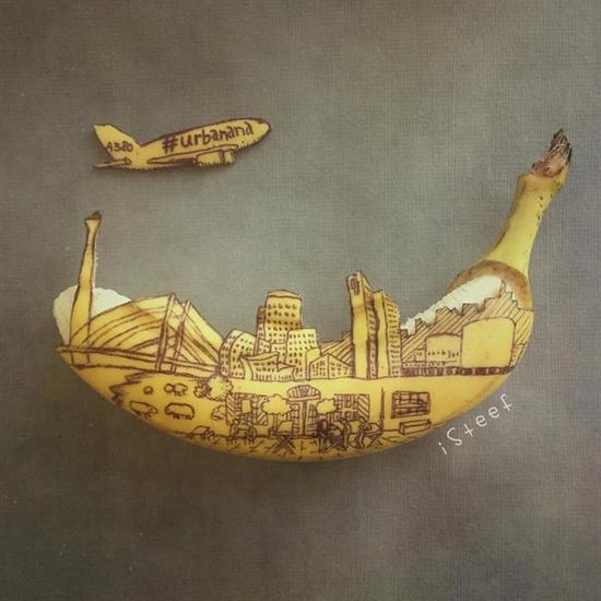 """创意无限的香蕉艺术品,原来香蕉还可以这么""""玩"""""""