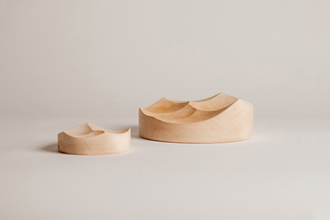 设计师Jordi Lopez Aguilo雕塑托盘Carved Bowls