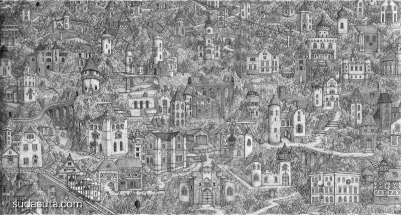 Olivia Kemp 不可思议的巨幅手绘