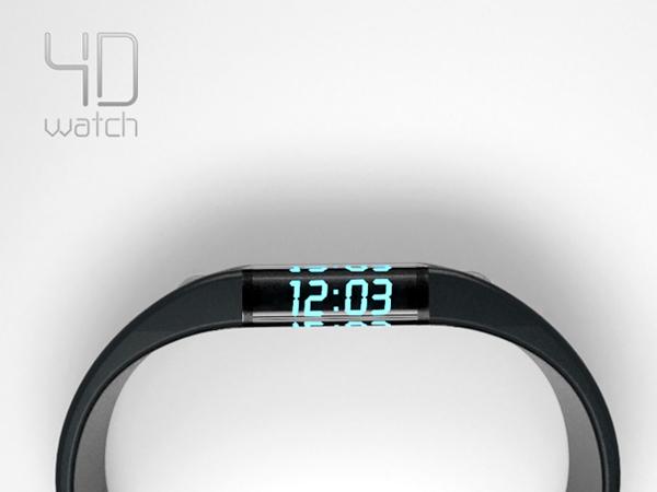 浮动时间的4D手表