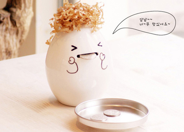 超可爱鸡蛋存钱罐
