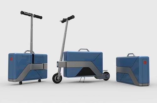 可折叠成手提箱的电动车设计