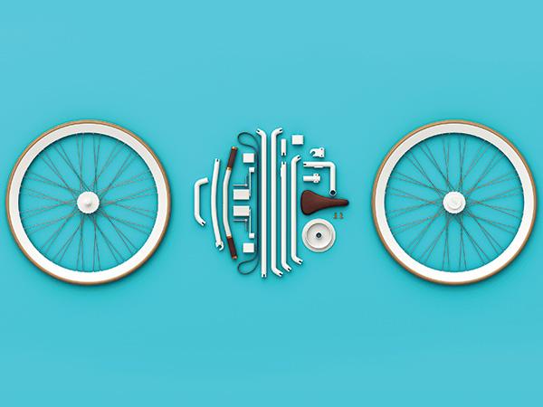 能装进口袋的创意自行车设计