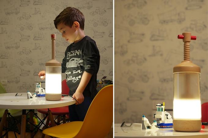 英国活塞控制灯光亮度的创意台灯(DiMO Lamp)