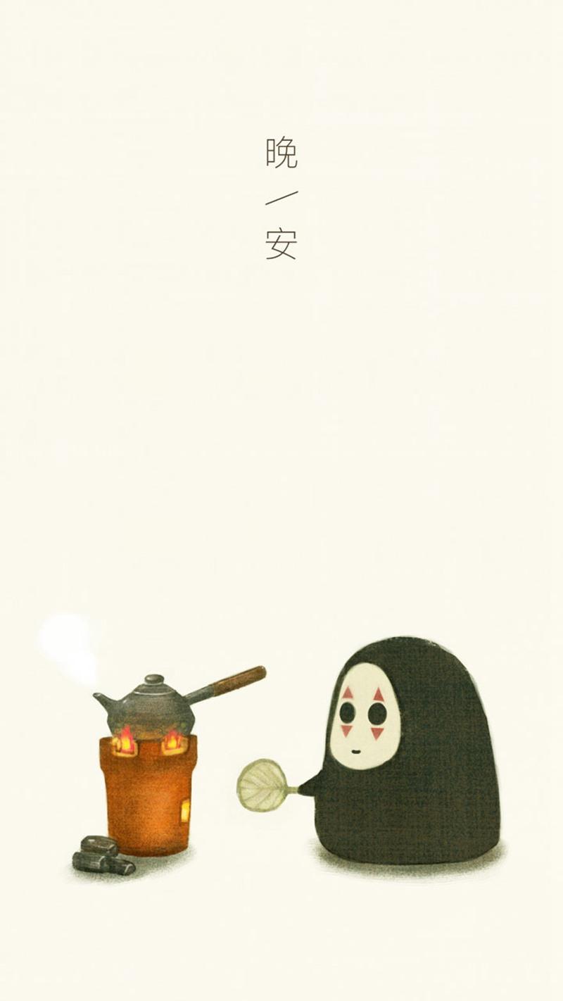 好Q萌的无脸男漫画图片