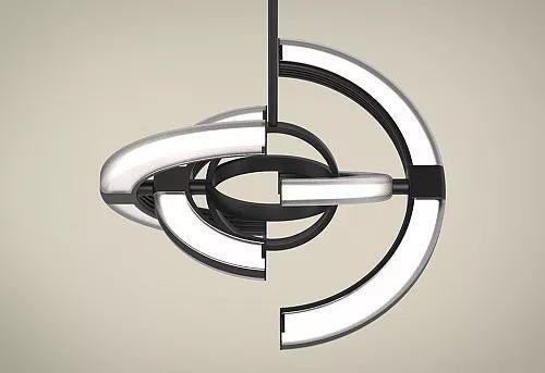 既是吊灯也是挂钟Saturn