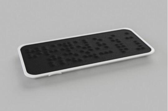 专为视障者打造的盲文电话,纯触屏也能够通过手来传递信息