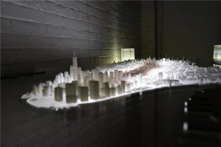 再现曼哈顿胜景的创意茶几(New York City Desk)